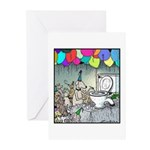 Dog party Toilet water Punch Greeting Cards (Pk of