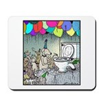 Dog party Toilet water Punch Mousepad