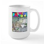 Dog party Toilet water Punch Large Mug