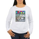 Dog party Toilet water Punch Women's Long Sleeve T