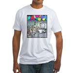Dog party Toilet water Punch Fitted T-Shirt