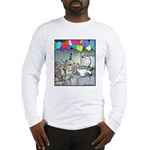 Dog party Toilet water Punch Long Sleeve T-Shirt