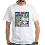 Dog party Toilet water Punch White T-Shirt