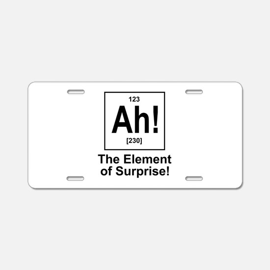 Ah! Aluminum License Plate