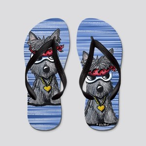 Cool Like Craigy Scottie Dog Flip Flops
