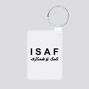 ISAF - B/W (1) Aluminum Photo Keychain