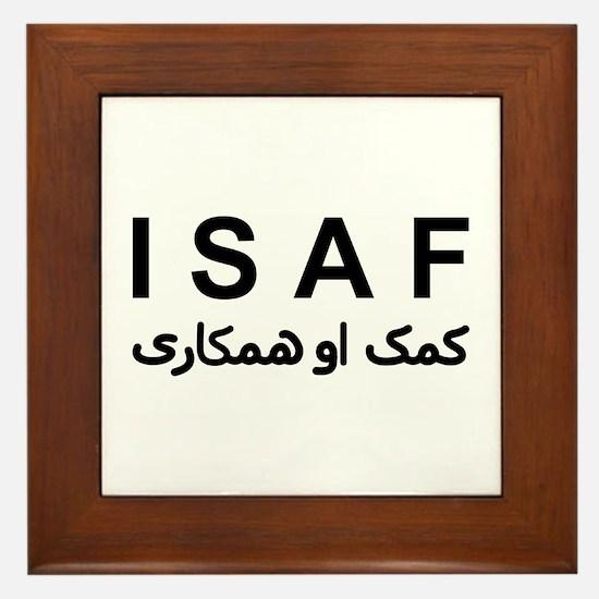 ISAF - B/W (1) Framed Tile