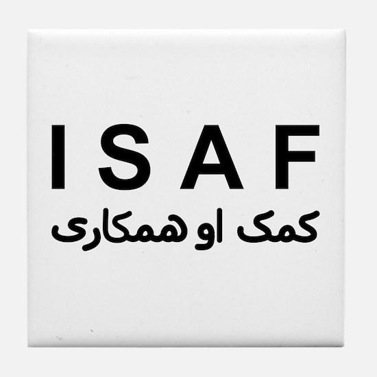 ISAF - B/W (1) Tile Coaster