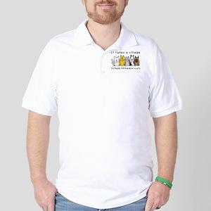 2-takesavillageCAT Golf Shirt
