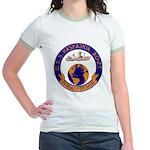 USS KASKAKIA Jr. Ringer T-Shirt