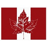 Cool Canada Flag 5x7 Flat Cards (Set of 10)
