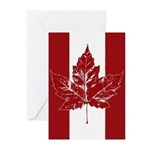 Cool Canada Flag Greeting Cards