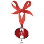 Cool Canada Flag Oval Year Ornament