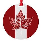 Cool Canada Flag Aluminum Round Ornament