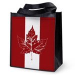 Cool Canada Flag Reusable Grocery Tote Bag