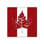 Cool Canada Flag Sticker (Square 10 pk)