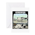 When Pugs dream Greeting Cards (Pk of 10)