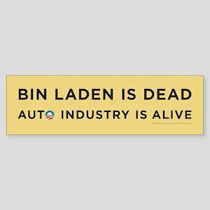 Yellow Bin Laden is dead Sticker (Bumper)