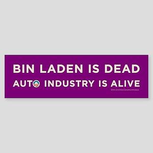 Purple Bin Laden is dead Sticker (Bumper)
