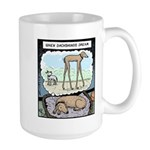 When Dachshunds dream Large Mug