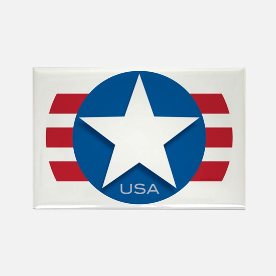 USA Classic Star: Rectangle Magnet