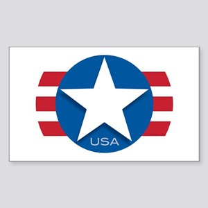 USA Classic Star: Rectangle Sticker