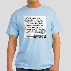 Machiavelli Lead Quote Light T-Shirt