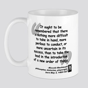 Machiavelli Lead Quote Mug