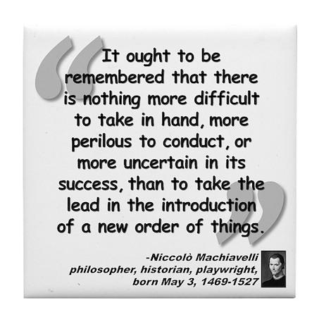 Machiavelli Lead Quote Tile Coaster