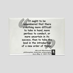 Machiavelli Lead Quote Rectangle Magnet