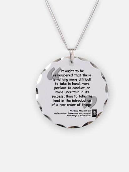 Machiavelli Lead Quote Necklace