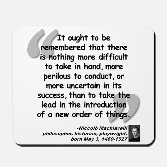 Machiavelli Lead Quote Mousepad