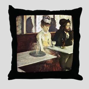 Edgar Degas Absinthe Throw Pillow