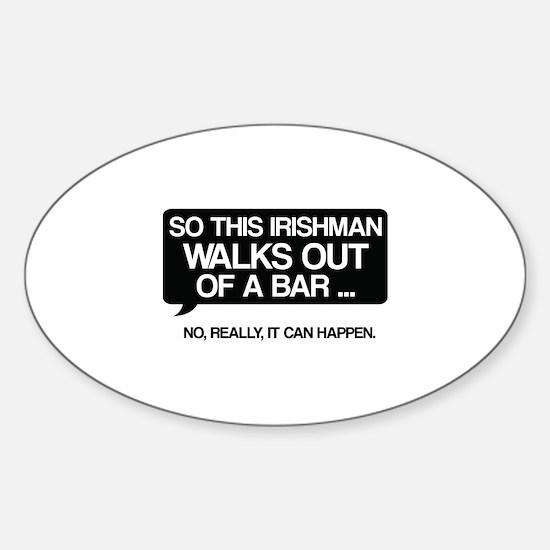 Irishman Sticker (Oval)
