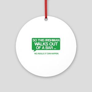 Irishman Ornament (Round)