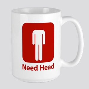 Need Head Large Mug