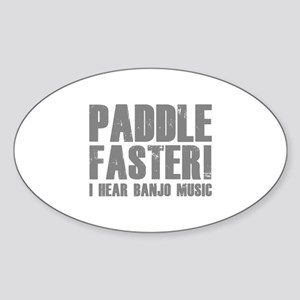 Paddle Faster ! Sticker (Oval)