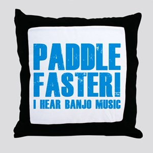 Paddle Faster ! Throw Pillow