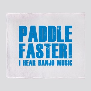 Paddle Faster ! Throw Blanket