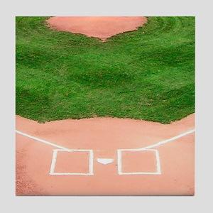 Baseball Diamond Tile Coaster