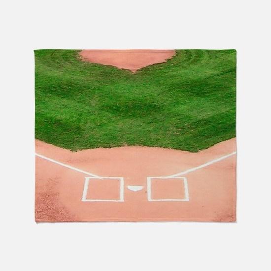 Baseball Diamond Throw Blanket