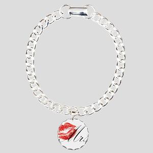 Mrs Lips Charm Bracelet, One Charm