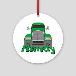 Trucker Randy Ornament (Round)