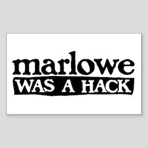 Marlowe Was A Hack Rectangle Sticker