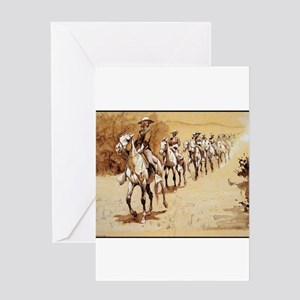 In the Desert, c.1888, Pen ink Greeting Card