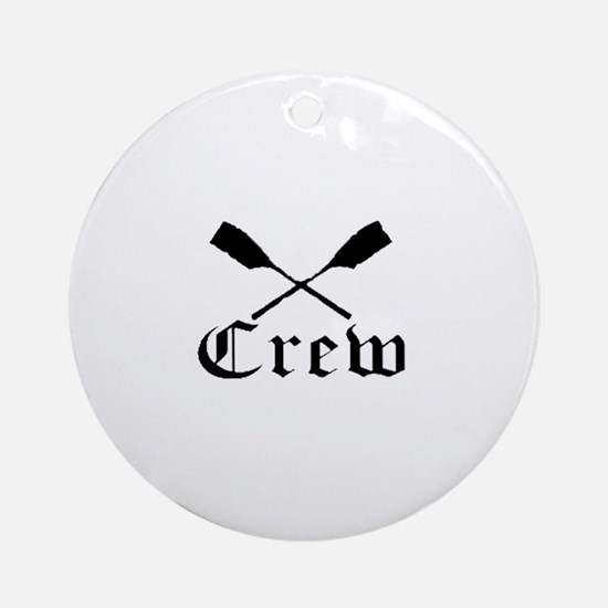 crew with oars (black) Ornament (Round)
