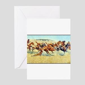 Indian Warfare, 1908 Greeting Card