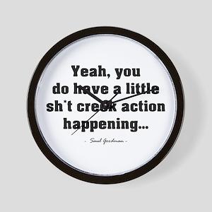 'Sh*t Creek' Wall Clock