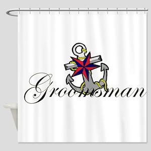 Groomsman Anchor Shower Curtain