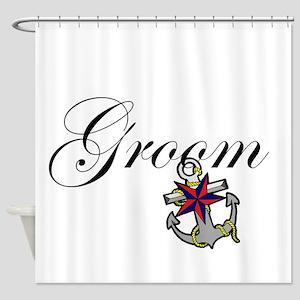 Groom Anchor Shower Curtain
